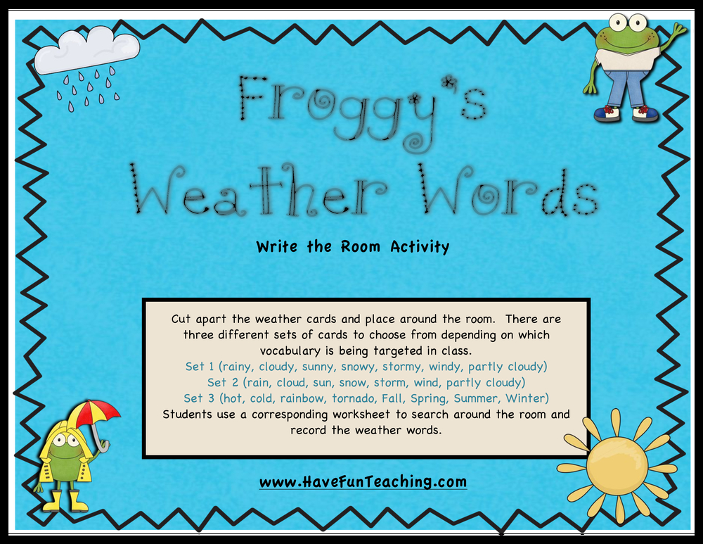 Weather Activities | Have Fun Teaching