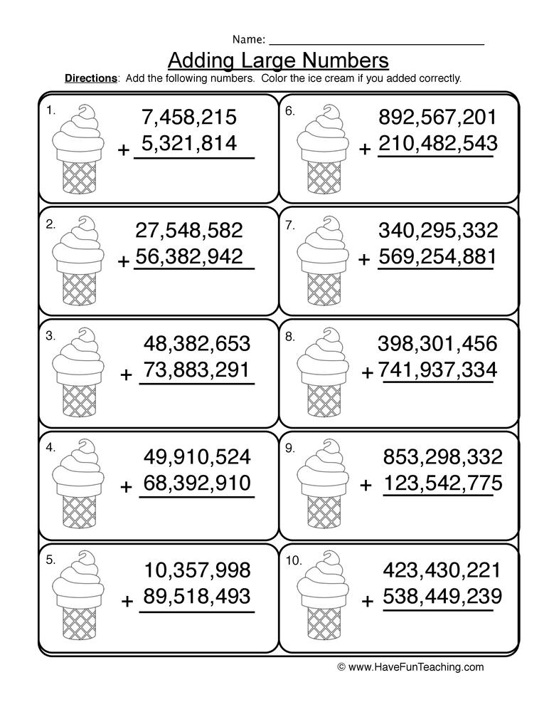 adding millions regrouping worksheet 2