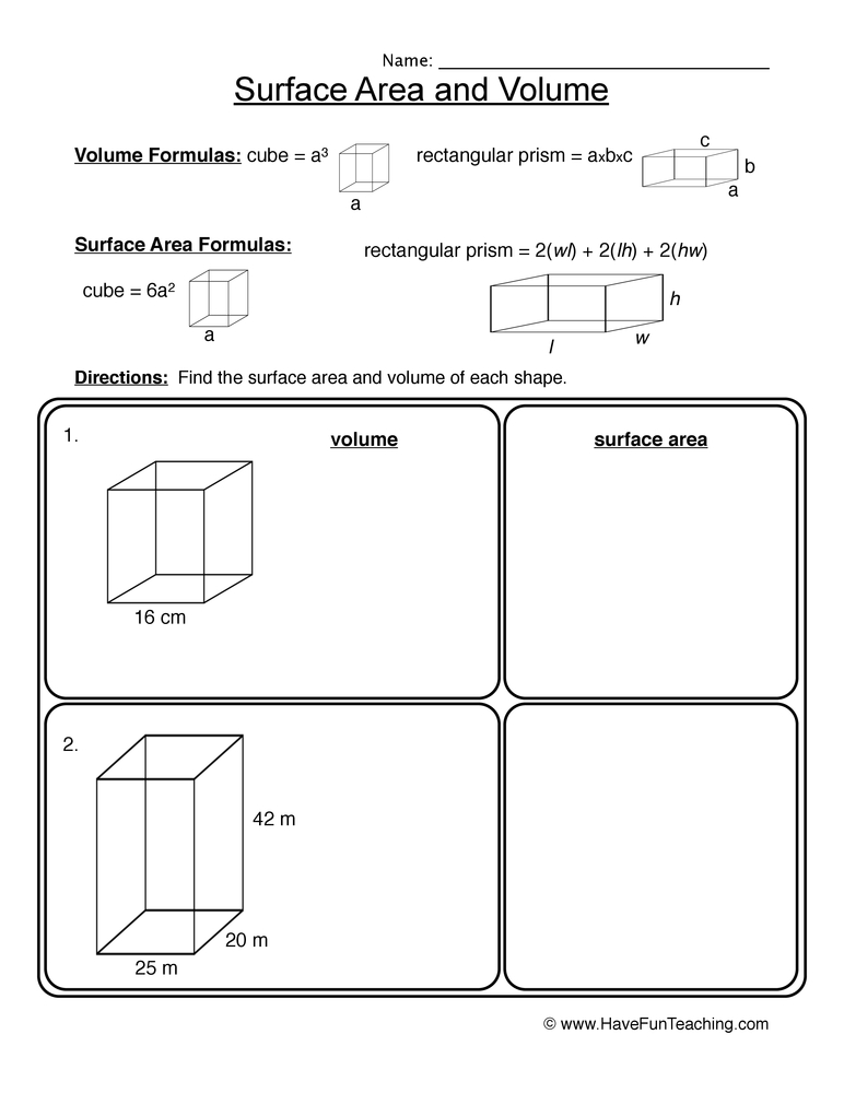Volume Prism Worksheet Volume Of Rectangular Prisms Worksheet Volume as well Rectangular Prisms Worksheets further s and Surface Area in addition s For Prisms Surface Area Rectangular Prism  s Worksheet Full also Volume Of Cube And Rectangular Prism Worksheet Math Worksheets together with Volume and Surface Area of Rectangular Prisms  A together with prism worksheets – kcctalmavale also  in addition Volume Of Cube And Rectangular Prism Worksheet Surface Area as well surface area prism math – dudui club as well Free worksheets for the volume and surface area of cubes furthermore  also Volume Of Pyramid Worksheet Kindergarten Volume And Surface Area Of furthermore Surface Area Worksheets furthermore  together with Surface Area Of A Prism Worksheet Collection Of Free Math Worksheets. on surface area rectangular prism worksheet