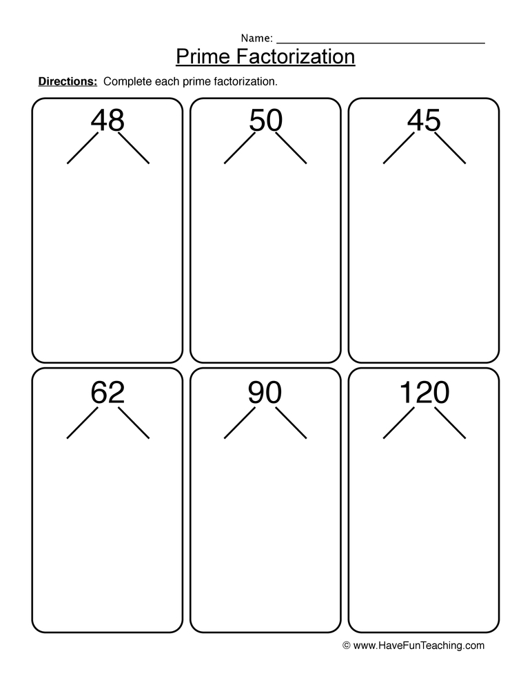 prime numbers worksheet 2