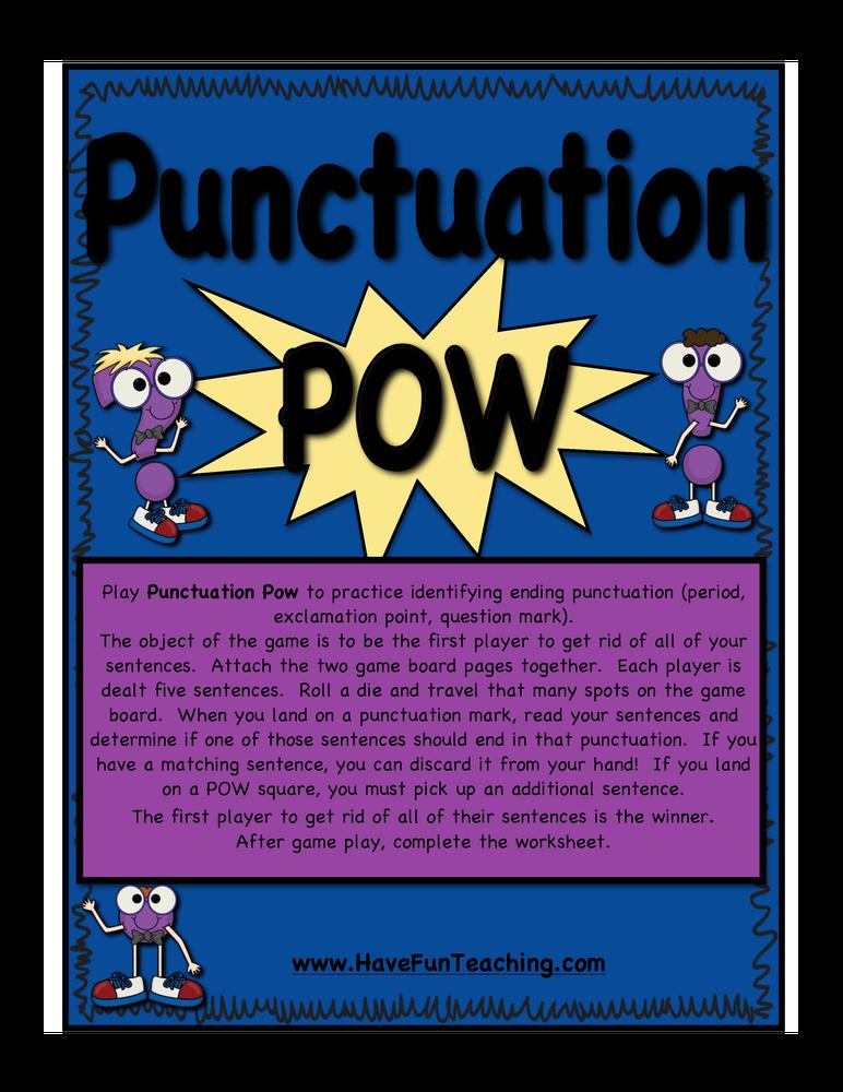 punctuation pow activity