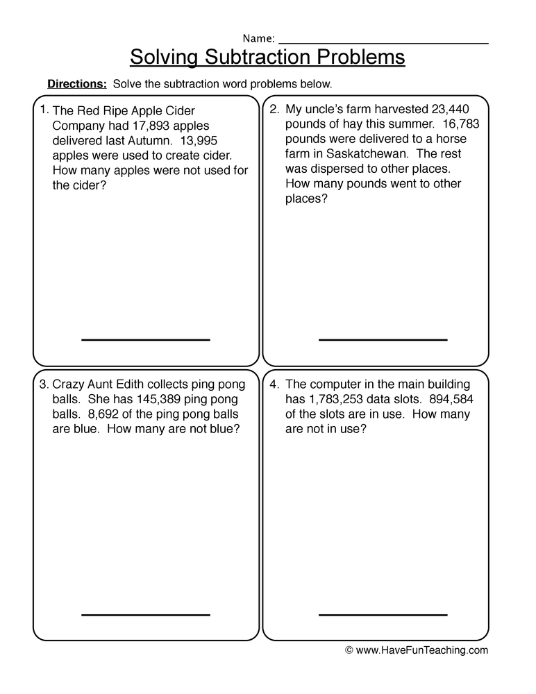 math worksheet : word problems worksheet  have fun teaching : 2nd Grade Addition And Subtraction Word Problems Worksheets