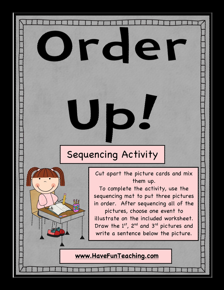 Order Up activity