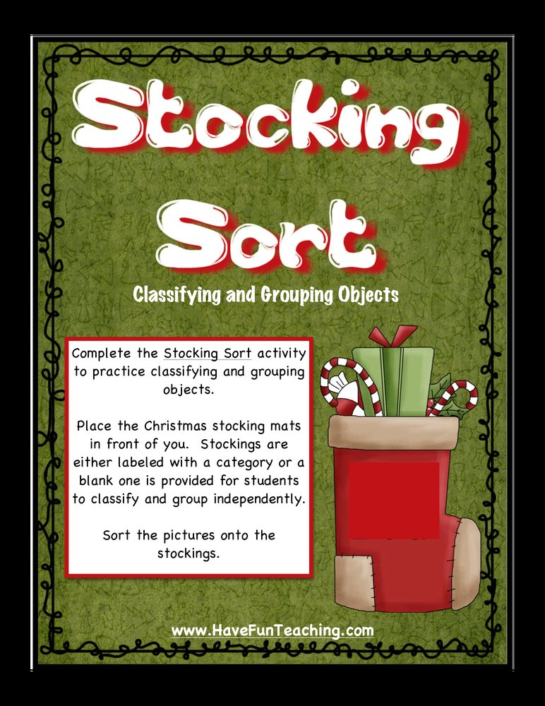 Stocking Sort Classifying Activity
