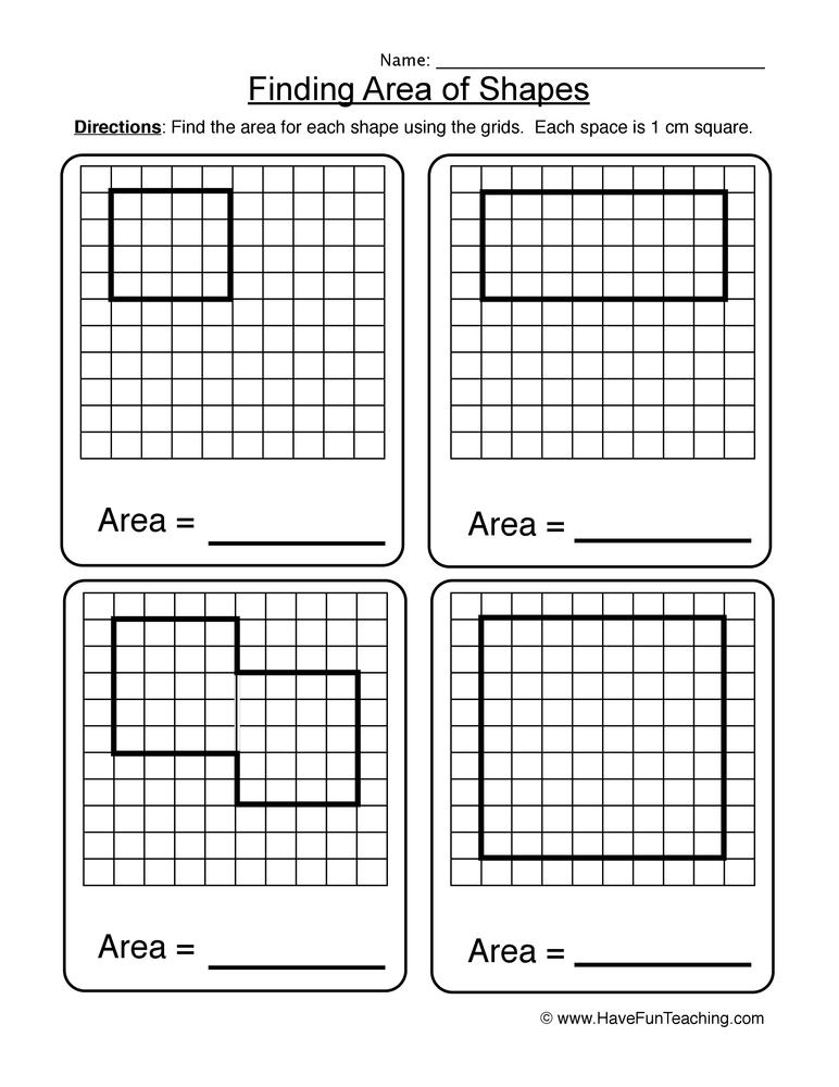 area worksheet 1