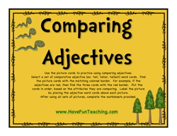comparing adjectivies activity
