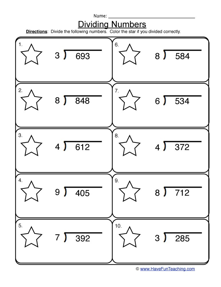 Hd Wallpapers 3 Digit By 1 Digit Division Worksheets