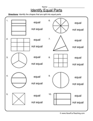 fractions equal parts worksheet 2