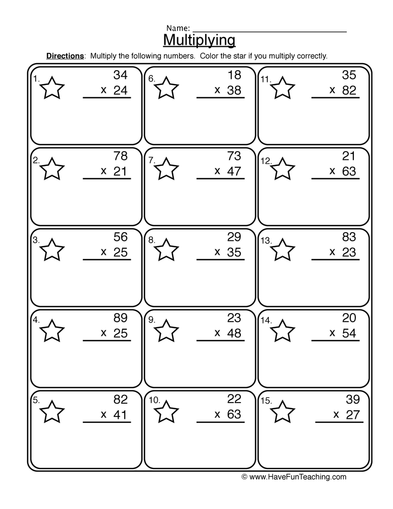 math worksheet : multiplication 2 digit worksheet 1 : Multiplication 2 Digit By 1 Digit Worksheet