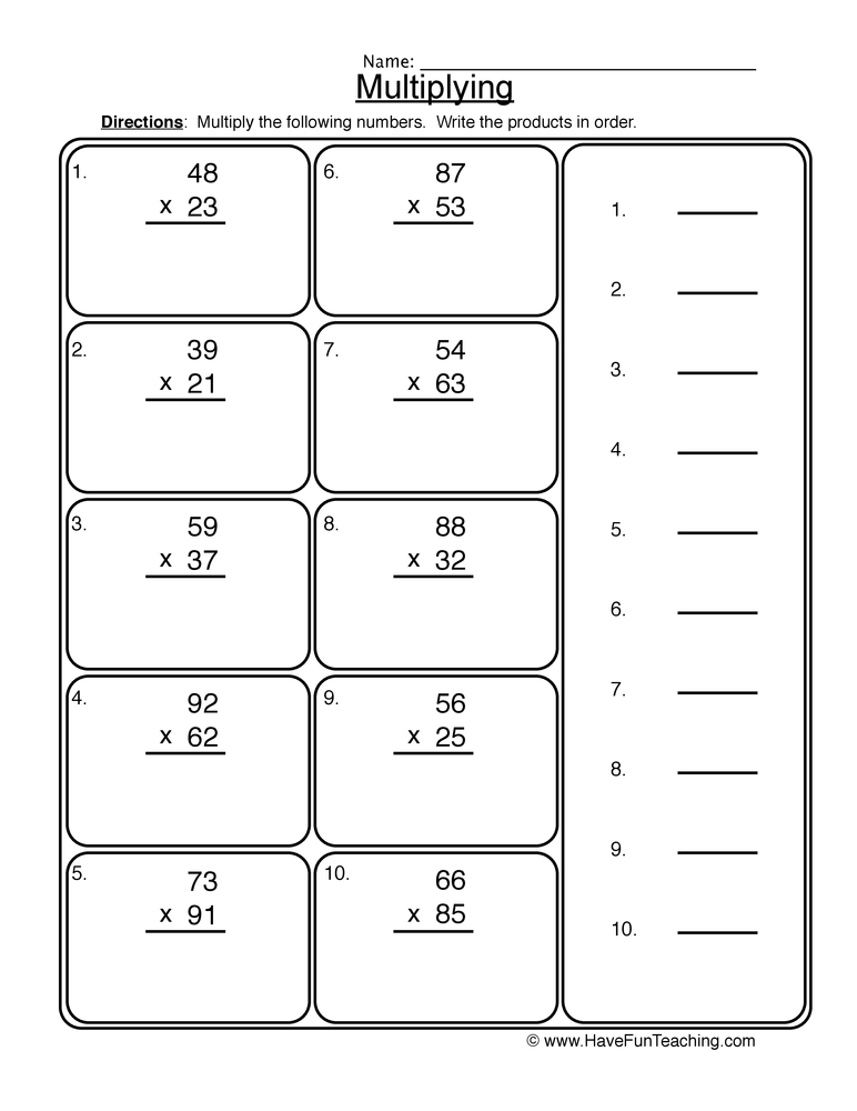 3 digit by 2 digit multiplication worksheets pdf