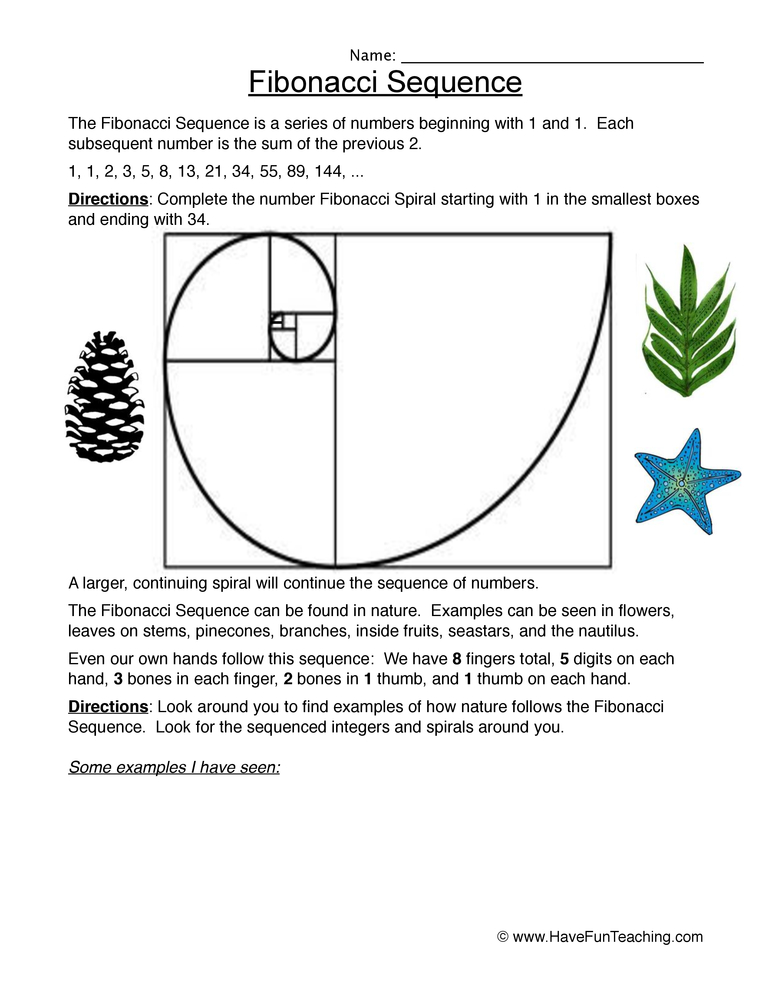 number patterns worksheet 2