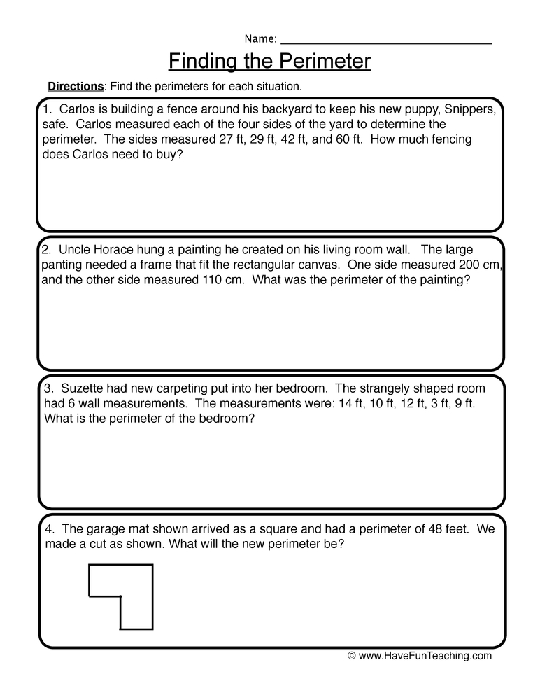 Word Problems Worksheets - Page 2 of 7 - Have Fun Teaching