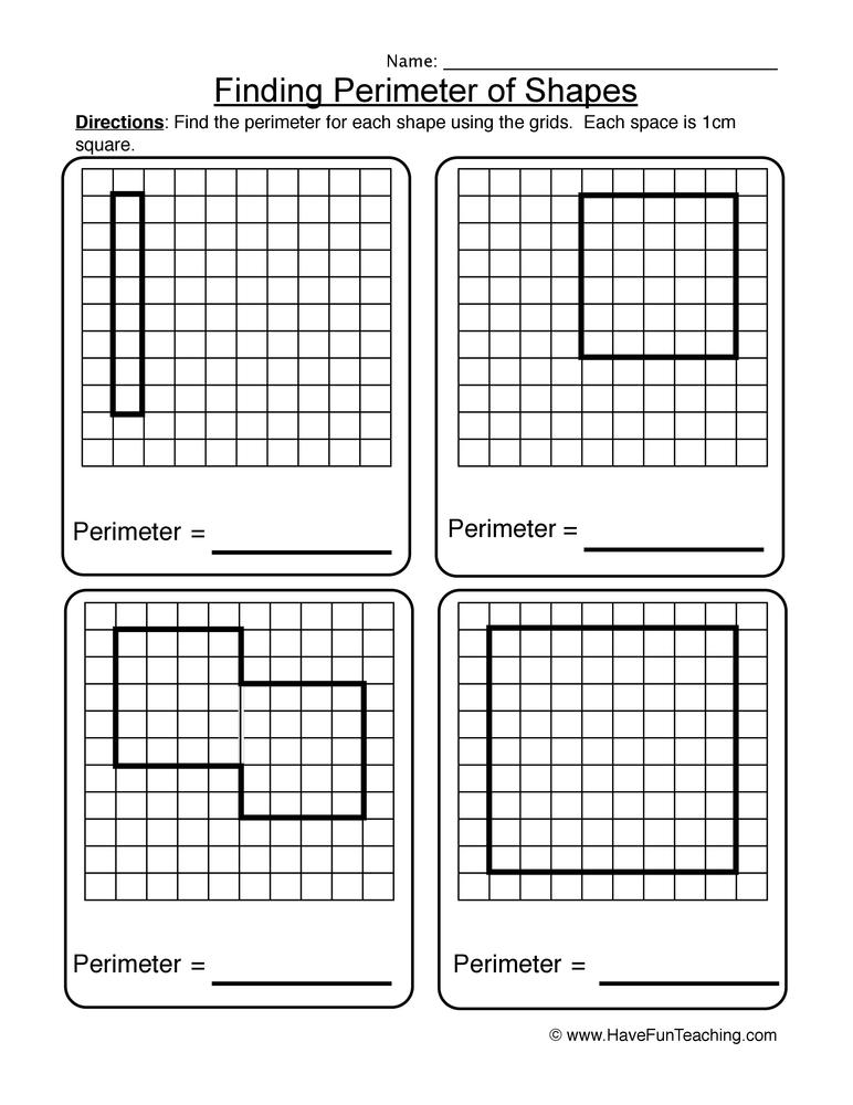 Finding The Perimeter Of Shapes Worksheet 3: Finding Area And Perimeter Worksheets At Alzheimers-prions.com