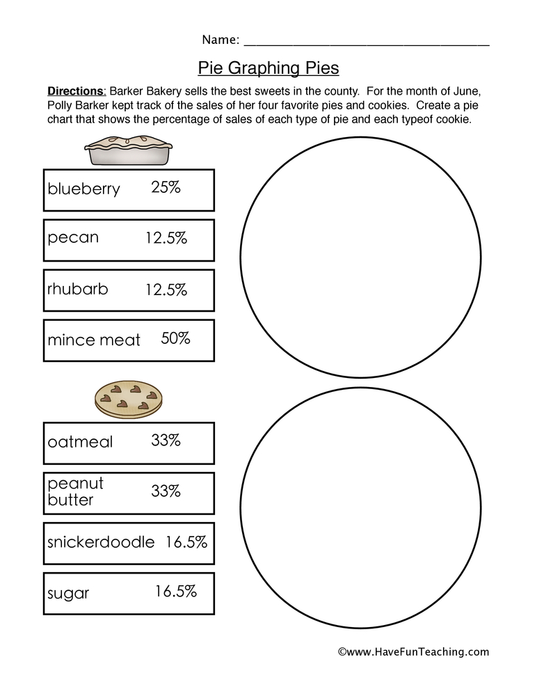 Printables Pie Graph Worksheets pie graphing pies graphs worksheet 1 graph 1