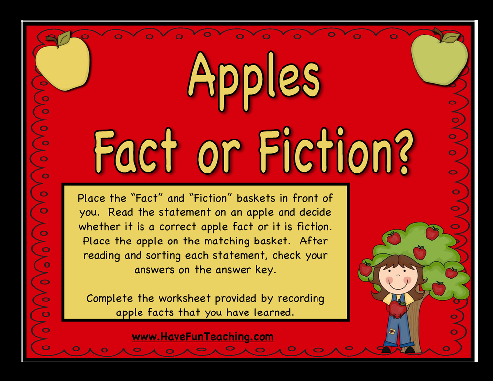 apples fact or fiction activity