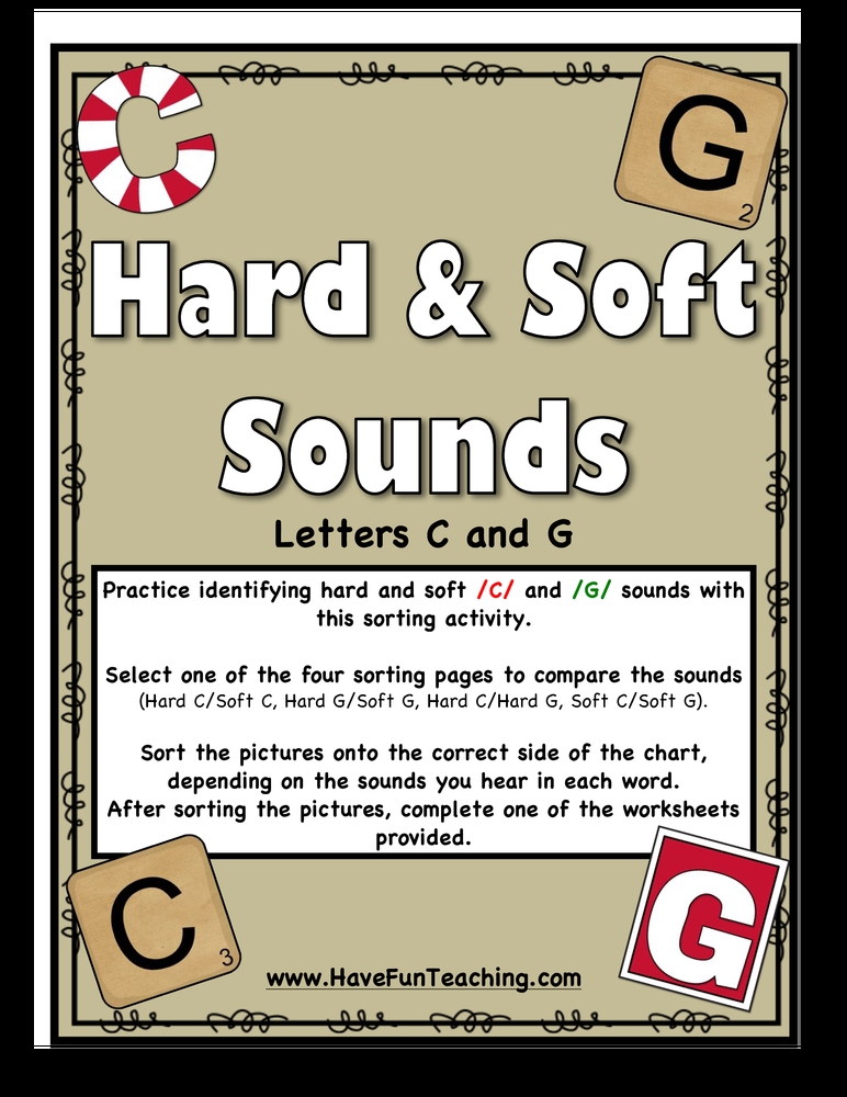 hard and soft c g sounds activity