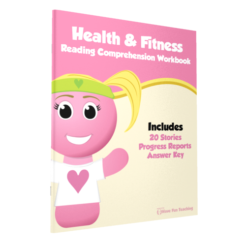 Health & Fitness Reading Comprehension Workbook Paperback