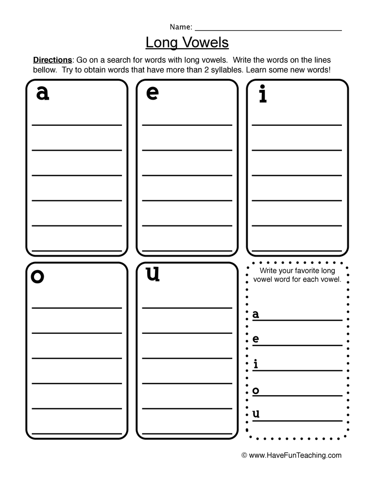 math worksheet : long vowel worksheets  have fun teaching : Long A Worksheets For Kindergarten