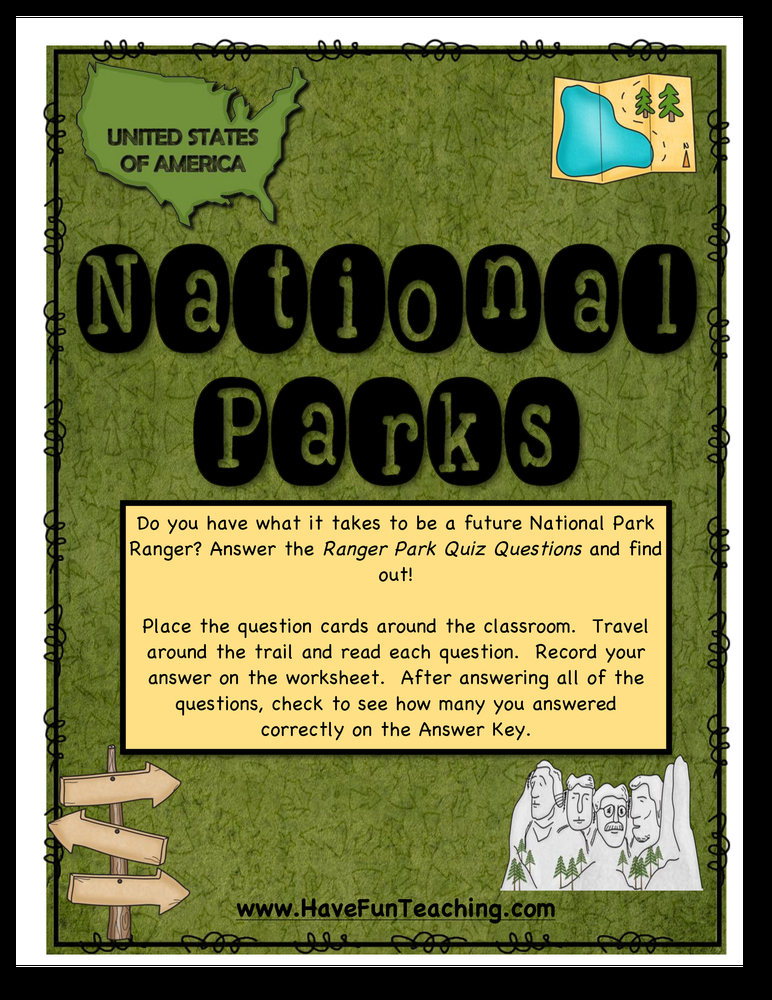 national parks activity