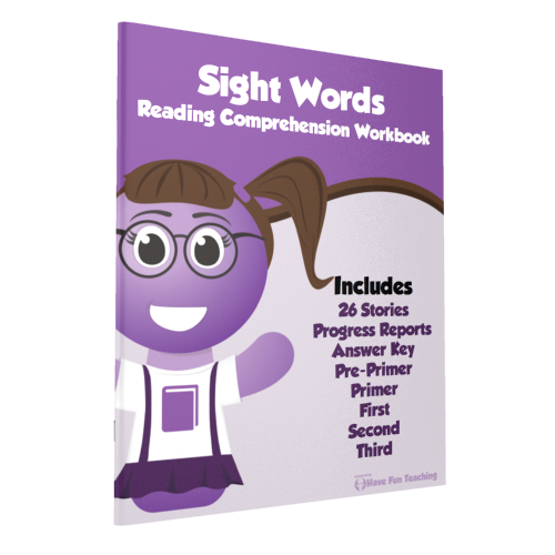 Sight Words Reading Comprehension Workbook Paperback