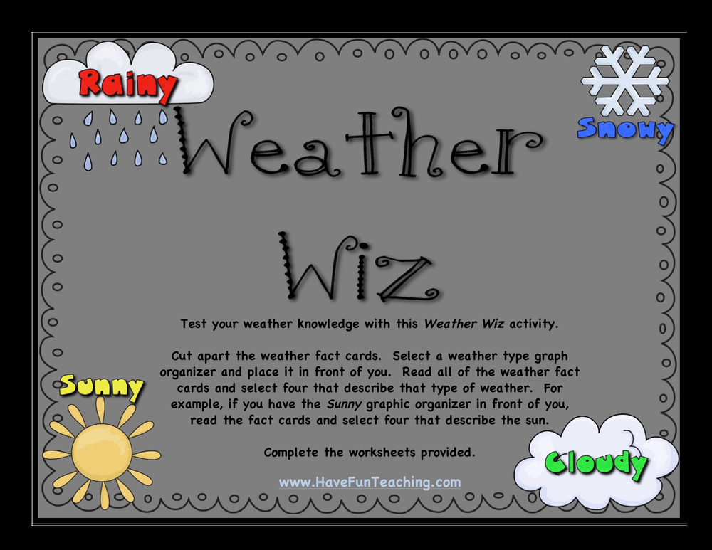 weather wiz activity