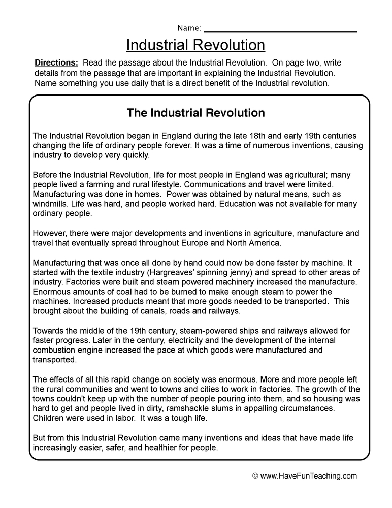 Worksheets Industrial Revolution Worksheets industrial revolution worksheet 1
