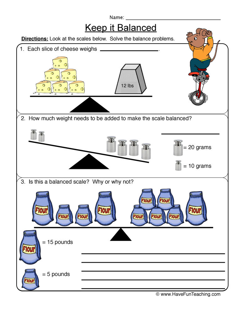 balanced scale worksheet 1