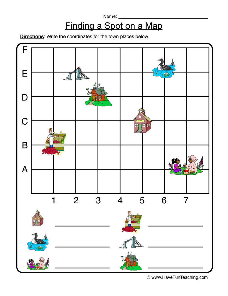 math worksheet : graphing worksheets  have fun teaching : Kindergarten Map Worksheets