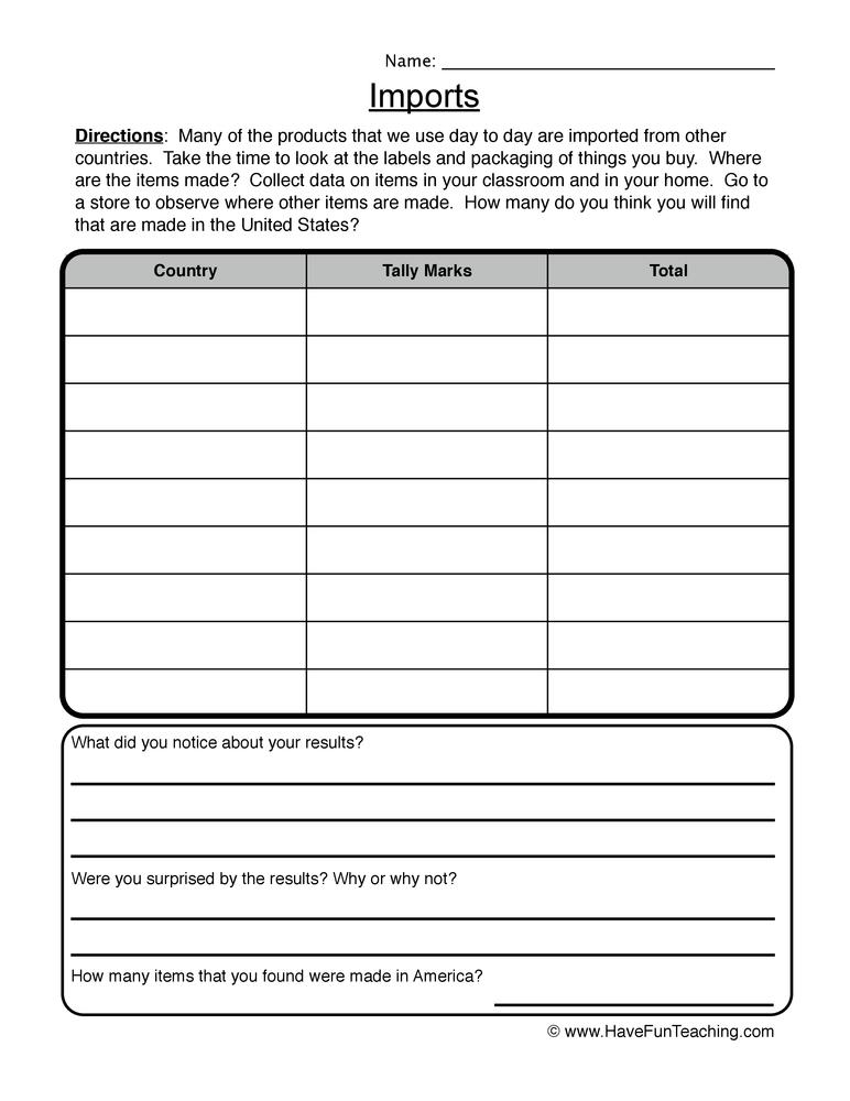 Printable Worksheets social studies worksheets grade 3 : social studies worksheet | Page 2 of 3 | Have Fun Teaching