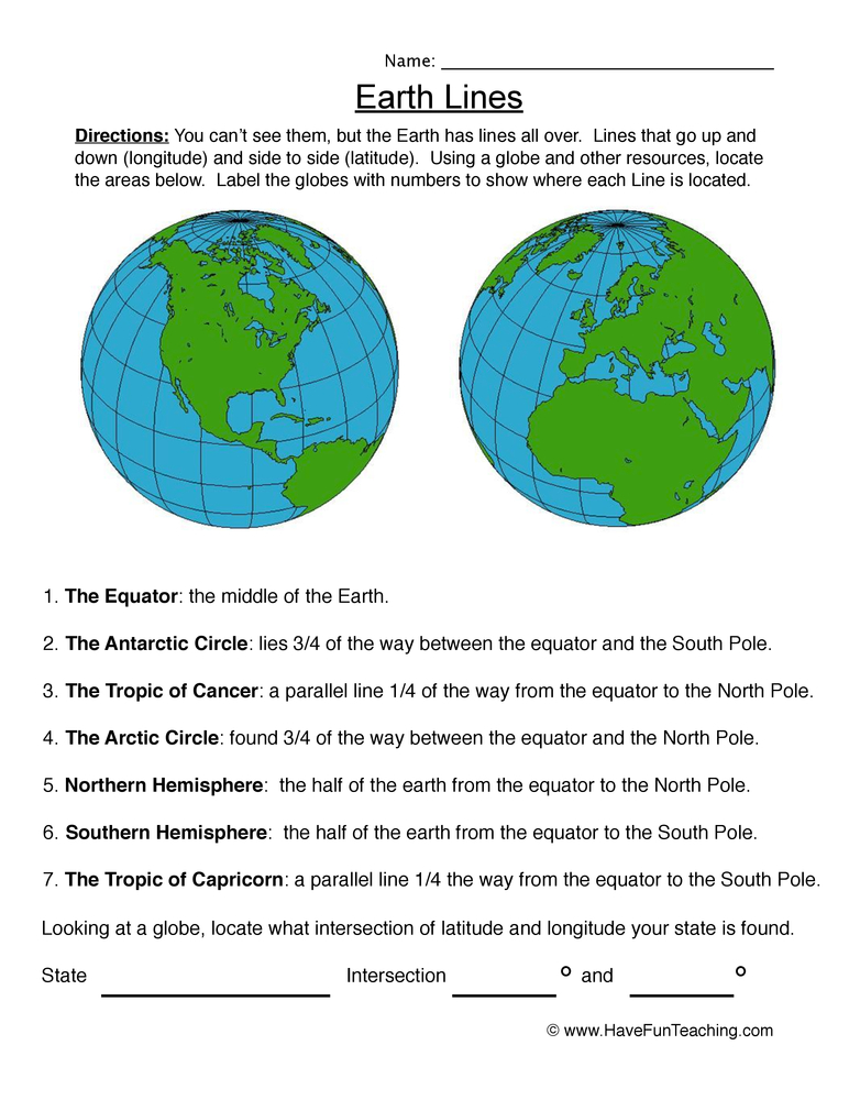 longitude latitude worksheet 2