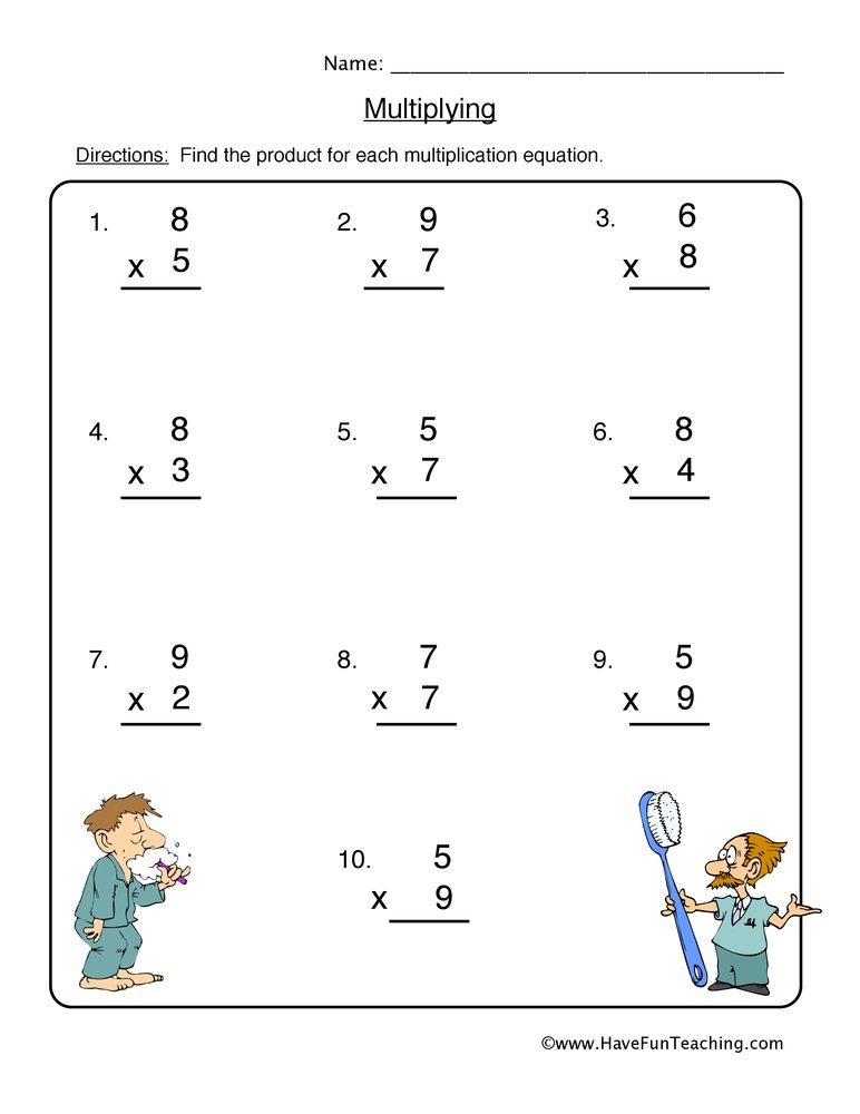 math worksheet : multiplication worksheets  have fun teaching : Have Fun Teaching Math Worksheets
