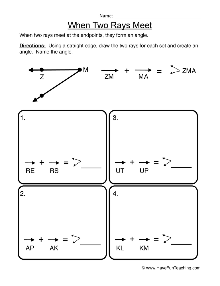 rays worksheet 2