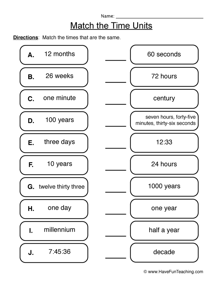 Worksheets Units Of Time Worksheets telling time worksheets have fun teaching worksheet 1