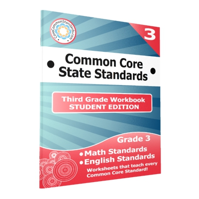 Third Grade Common Core Workbook - 25 Student Editions