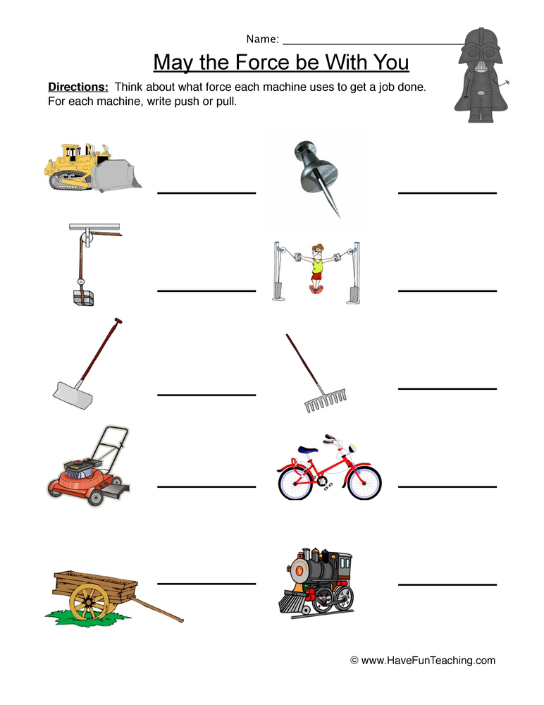 Force and Motion Worksheet 1 – Forces and Motion Worksheet
