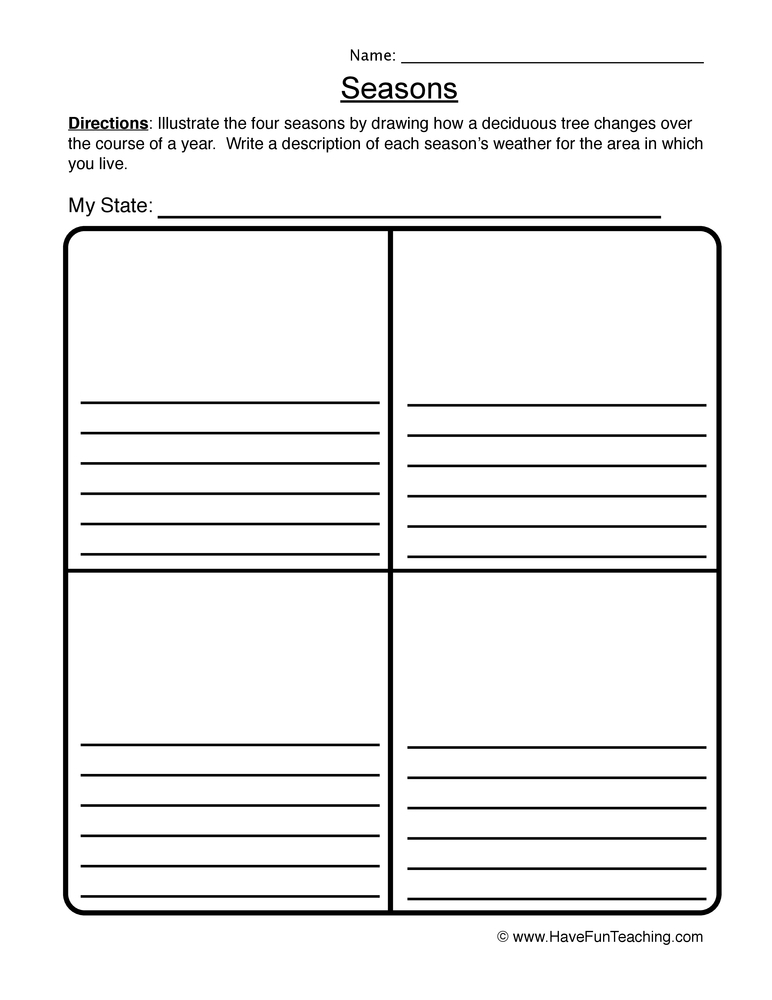 seasons worksheet 2