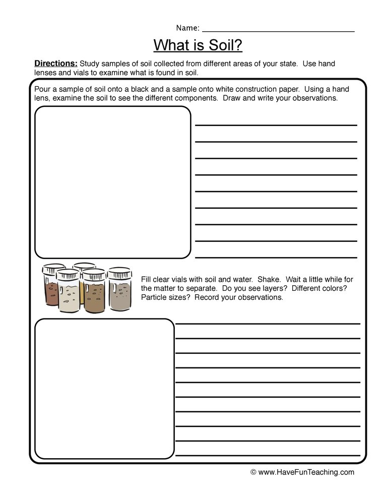 soil worksheet 1