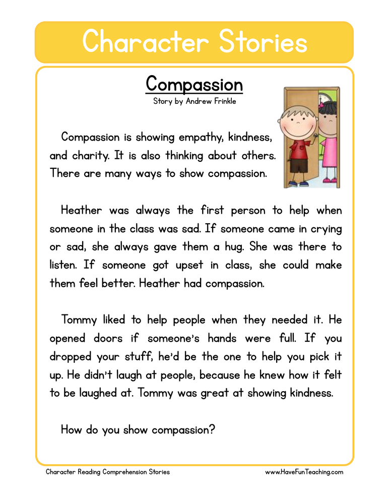 character stories comprehension compassion