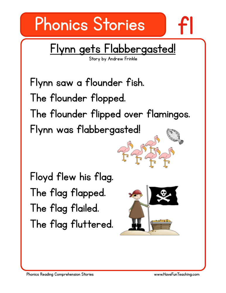 Flynn Gets Flabbergasted Fl Phonics Stories Reading Comprehension Worksheet Have Fun Teaching