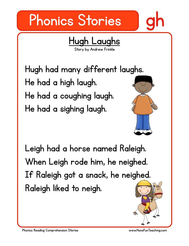 phonics stories comprehension gh