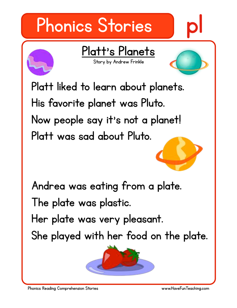 phonics stories comprehension pl