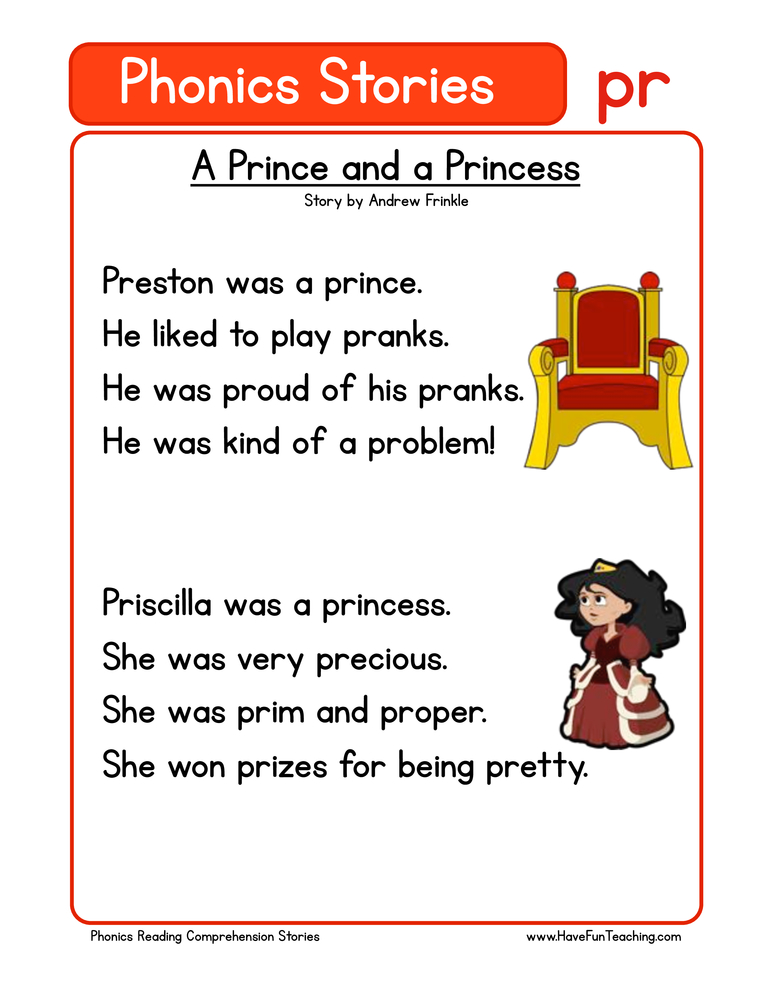 phonics stories comprehension pr