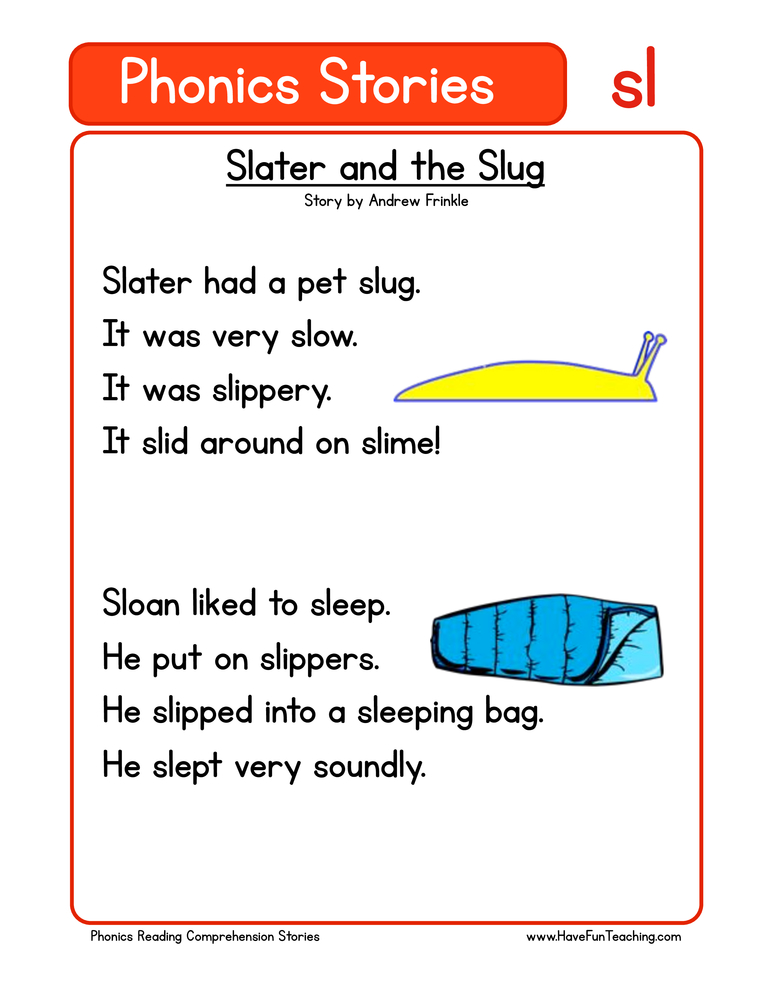 phonics stories comprehension sl