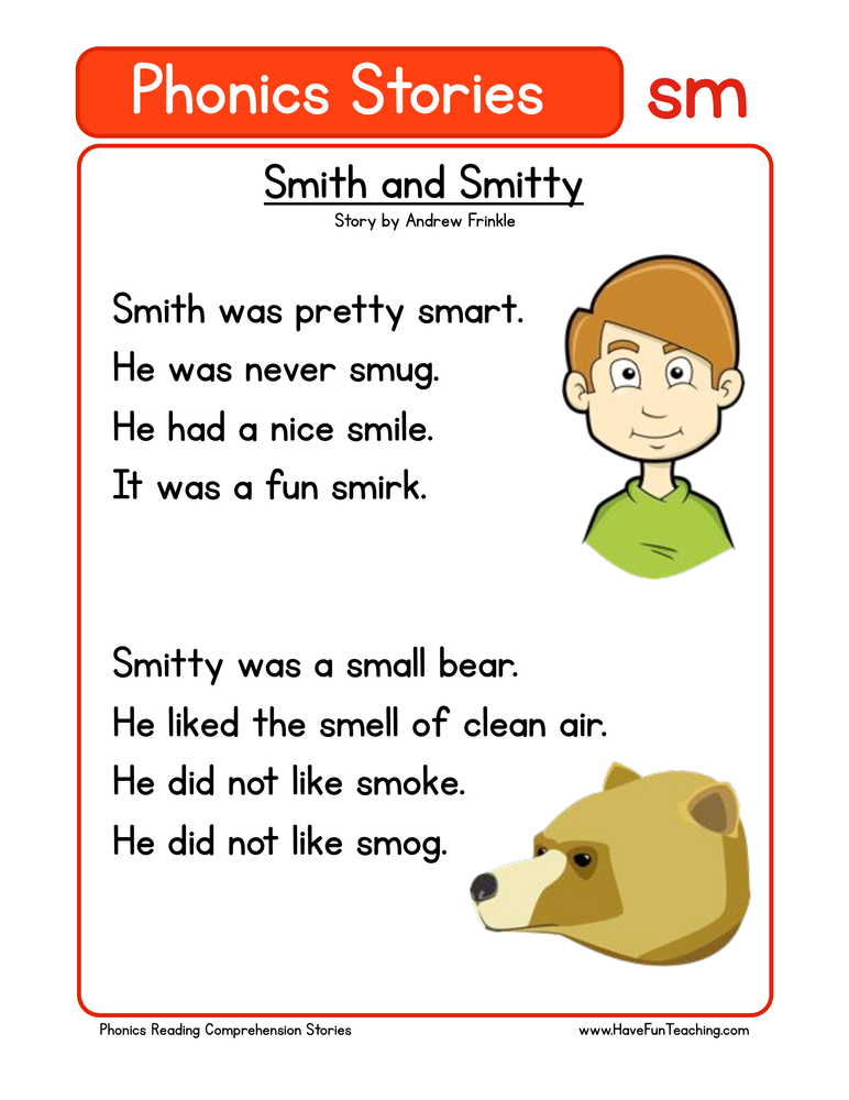 phonics stories comprehension sm