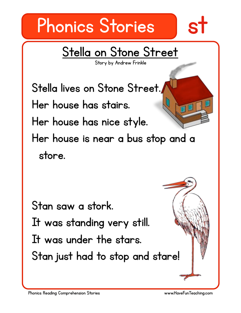 phonics stories comprehension st