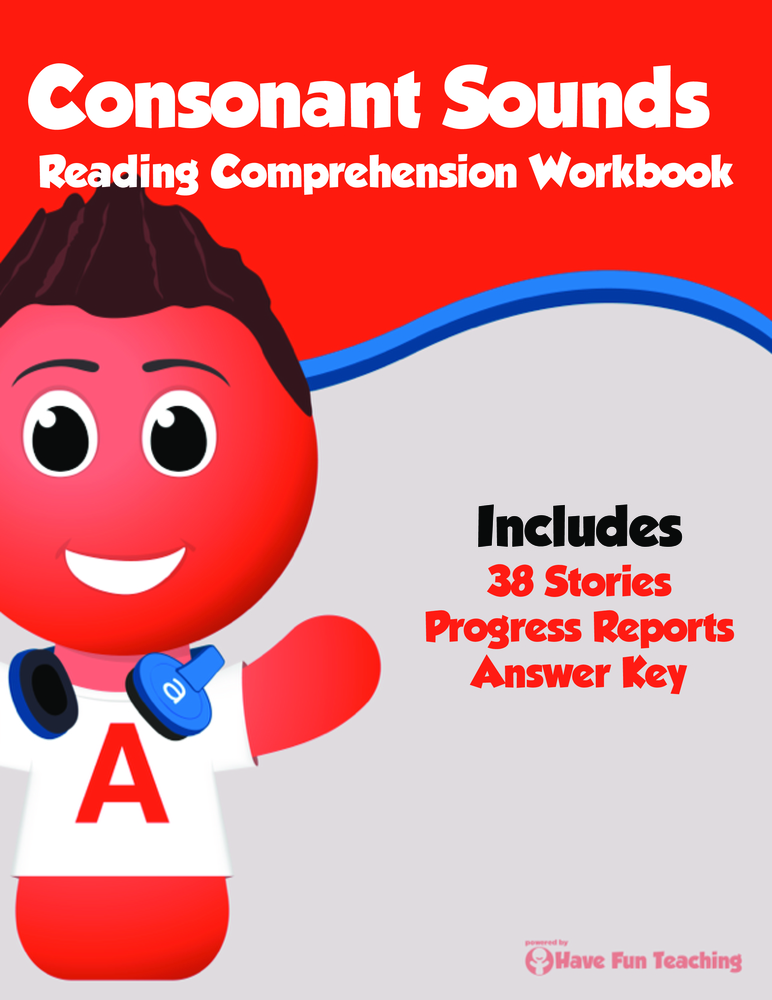 Consonant Sounds Reading Comprehension Workbook