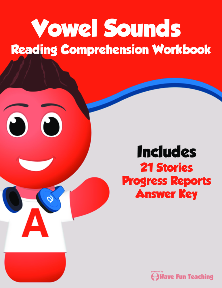 Vowel Sounds Reading Comprehension Workbook