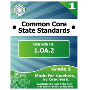 1.OA.2 First Grade Common Core Lesson