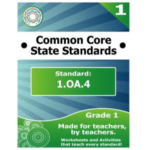 1.OA.4 First Grade Common Core Lesson