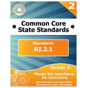 RI.2.1 Second Grade Common Core Lesson